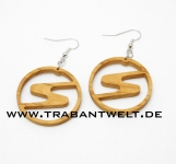 Sachsenring - Ohrringe aus Olivenholz