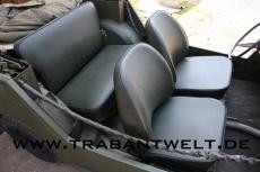 Sitzbezüge Trabant Kübel NVA grün 6-teilig