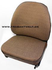 Sitzbezüge braun Textil Originalmuster Trabant 601 / 1.1