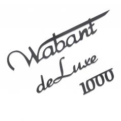 Schriftzug Wabant 1000 deluxe Edelstahl poliert Trabant
