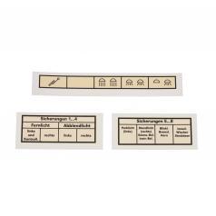 Lichtschalter-Beschriftung Trabant 500/600
