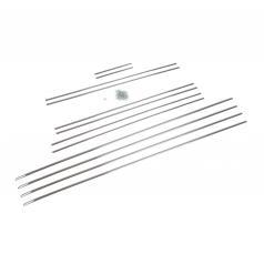 Zierleistensatz Aluminium 12 mm 12-teilig Trabant 500 600