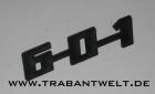 Schriftzug 601 Trabant Original-IFA