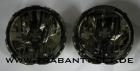 Klarglasscheinwerfer Paar Iron-light schwarz