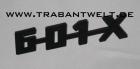 Schriftzug 601-X Trabant Original-IFA
