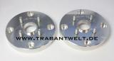 Adapterplatten Paar 30 mm Aluminium Lochkreis 160-100 Trabant 601