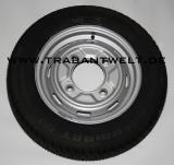 Komplettrad mit Radialbereifung Trabant 601