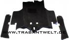 Bodenmatten schwarz 3-teilig Trabant 601