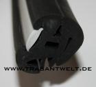 Dichtprofil Front-, Heckscheibe schwarz mit Keder Trabant 601