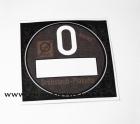 Grobstaub-Plakette schwarz Trabant