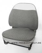 Sitzbezüge grau Textil Originalmuster Trabant 601