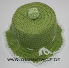 Mützchen für Toilettenpapierrolle grün/weiß