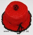 Mützchen für Toilettenpapierrolle rot/schwarz