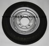 Komplettrad mit Diagonalreifen Trabant 601