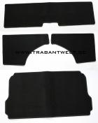 Kofferraumverkleidung schwarz 4-teilig Trabant 601 / 1.1 Limousine