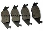 Scheibenbremsbeläge für belüftete VW-Bremsanlage Vorderachse Trabant 601