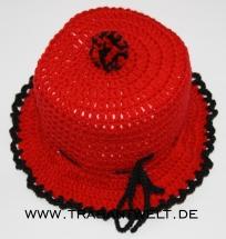 Mützchen für Toilettenpapierrolle rot/schwarz*